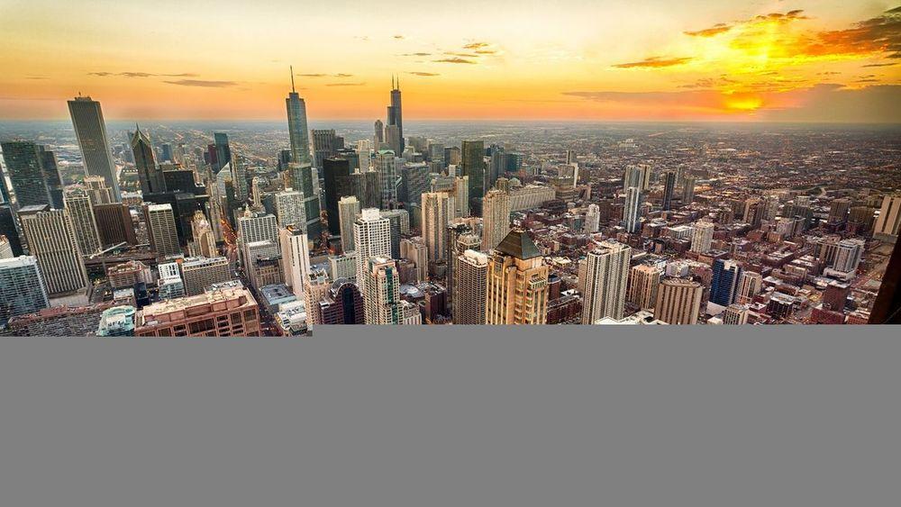 Потрясающая агломерация города Чикаго
