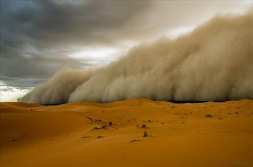 Песчаная буря в Сахаре